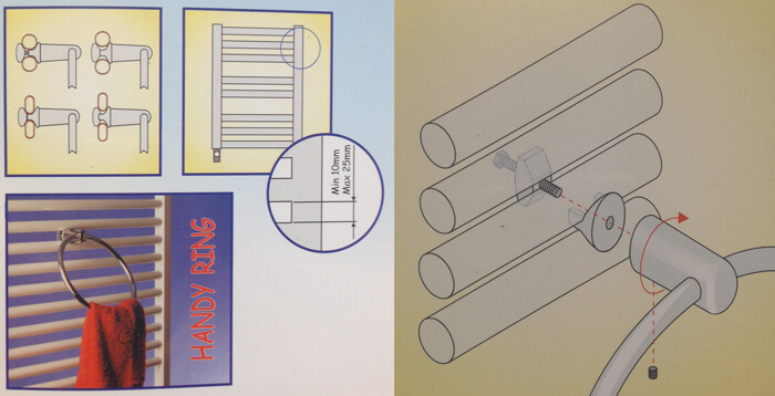 instructions for towel ring, bar holder