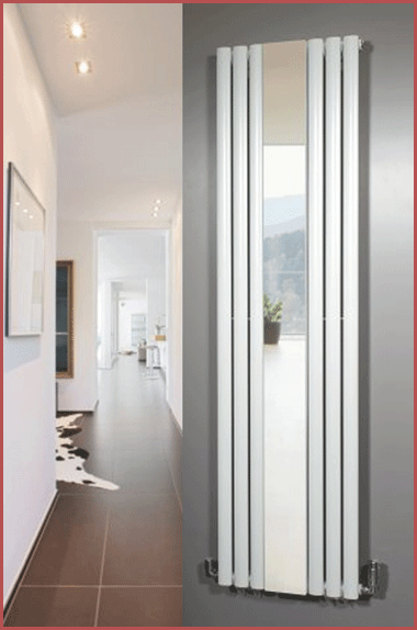 The Brecon White installed in a hallway.