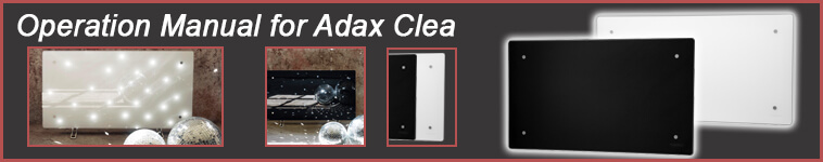 Operation manual for Adax Clea