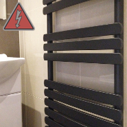 Designer Black Electric Towel Rails