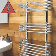 Designer Chrome Electric Towel Rails