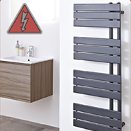 Designer Anthracite Electric Towel Rails