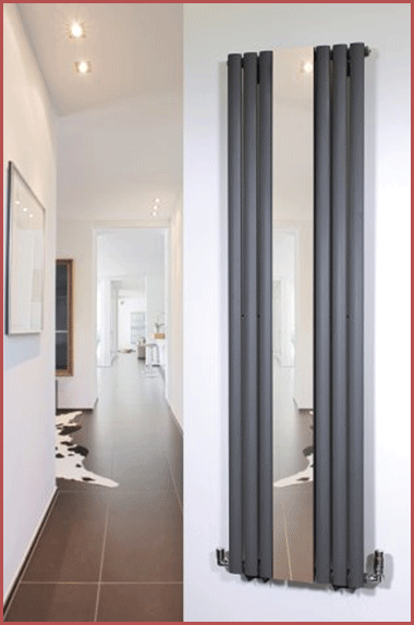 The Brecon Anthracite installed in a hallway.