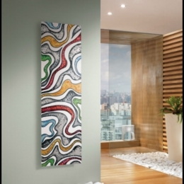 Funky designer radiator adding a nice vibe to this bathroom #bathroomdesign #bathroomdecor #bathroom #heat #designer