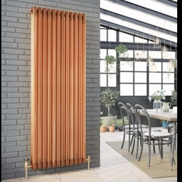 Beautiful copper column radiator #vintage #traditional #radiator #heat #design #designer #tradition