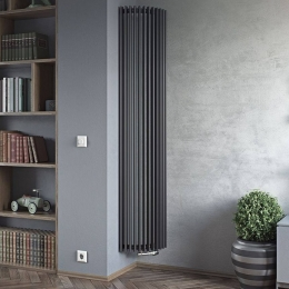 Corner designer radiator fitting into this room perfectly #columnradiator #columnradiators #interior #interiordesign #newhome #decor #interiorinspo #decorinspo #plumbing #plumbinglife