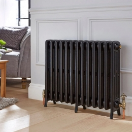 Traditional radiator with gold antique valves #columnradiator #columnradiators #interior #interiordesign #newhome #decor #interiorinspo #decorinspo #plumbing #plumbinglife